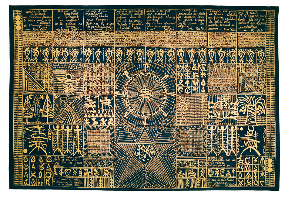 Homage to René Char, Michel Butor and Mohammed Dib, , woven tapestry at Aubusson