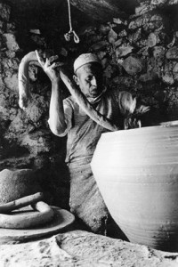 Hadj Gacem, Pottery for the  installation  Letters of  Clay, Rachid Koraïchi.